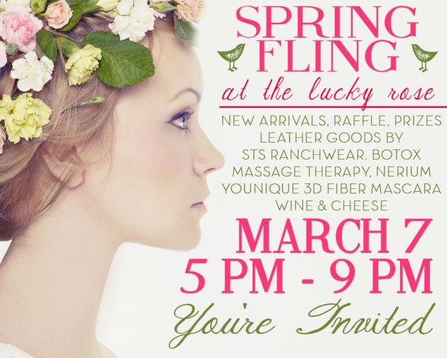 Evites I designed for the Lucky Rose's Spring Fling event